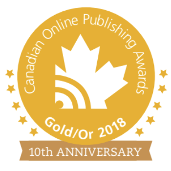 Canadian Online Publishing Award Gold Winner for Best Podcast