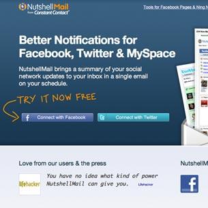 The freebie: NutshellMail
