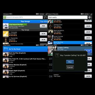 Amazon MP3 for BlackBerry
