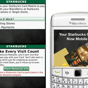 Starbucks Card Mobile App for BlackBerry