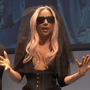 Crowd goes Gaga for camera sunglasses