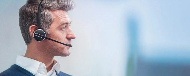 Man with a headset